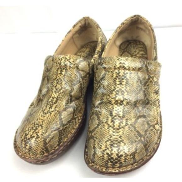 d2cc0ca206cb boc Shoes | By Born Peggy Snake Skin Print Clogs Slip Ons | Poshmark